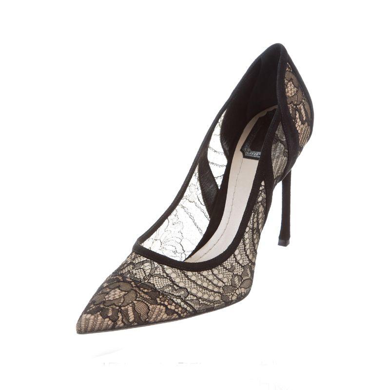 Classy Ivory Satin Rhinestone Wedding Shoes 2020 10 cm