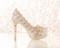 Luxe 2017 10 cm / 4 inch Champagne Désinvolte PU Appliques Talons Hauts Talons Aiguilles Escarpins Chaussure De Mariée