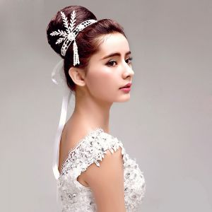 Rhinestone Pearl Leaf Bridal Headdress Wedding Hair Accessories
