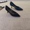Vintage / Retro Black Prom Pumps 2020 Suede Rhinestone 7 cm Stiletto Heels Pointed Toe Pumps