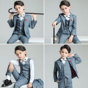 Simple Costumes De Mariage pour garçons 2019 Manteau Pantalon Chemise Gilet Cravate