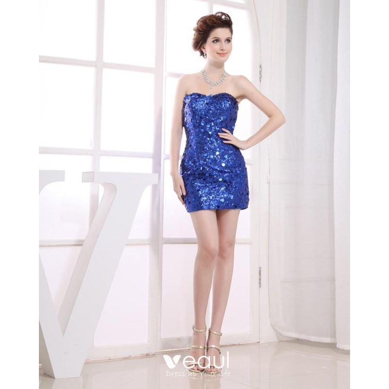 Sweet Bridal Womens Strapless Sweetheart Sequins Evening Cocktail Dress