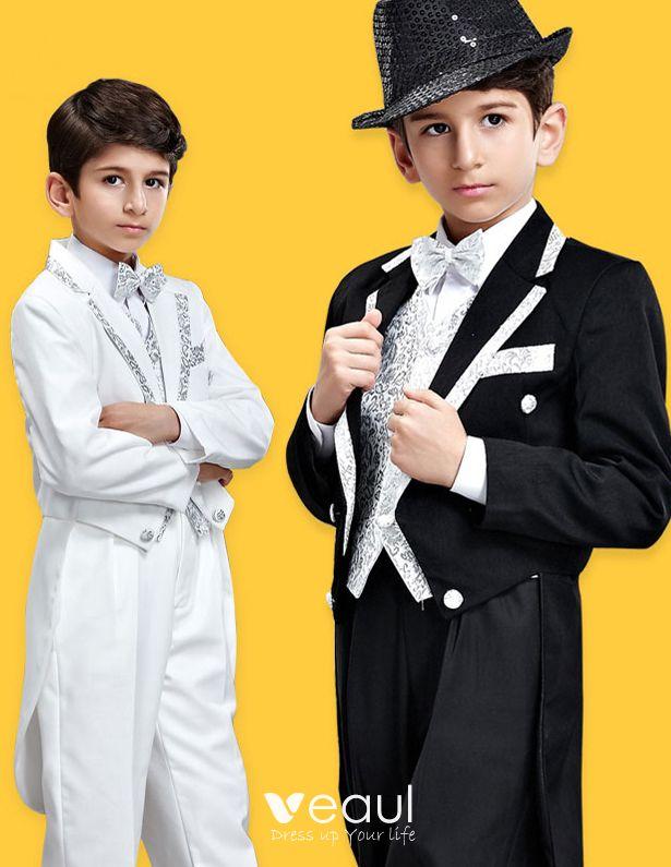 Børn Smoking Vest Trop Performance Tøj Små Dragter, Der Er Ringbærer Jakkesæt