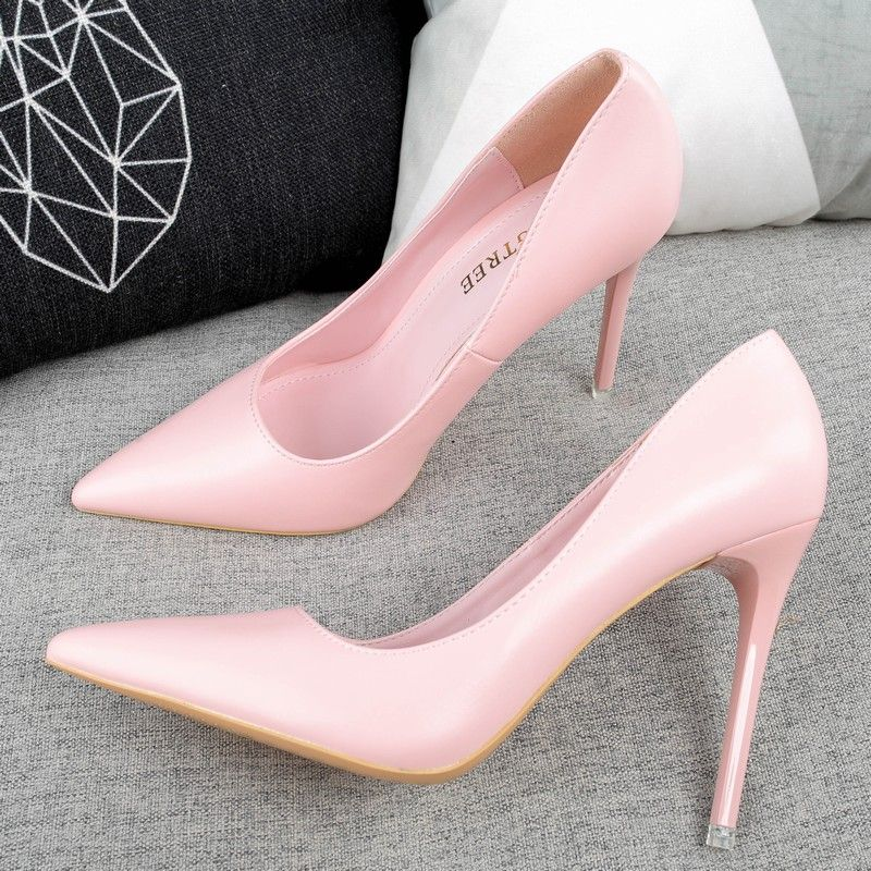 Chic / Beautiful Blushing Pink Evening Party Pumps 2019 Patent Leather 10 cm Stiletto Heels Pointed Toe Pumps