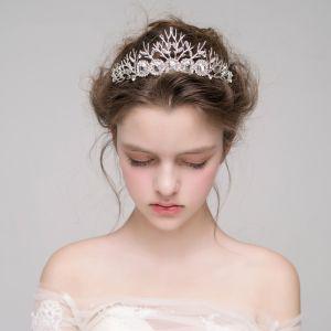 Bijoux Mariage Classique 2017 Argenté Cristal Faux Diamant Métal Tiare