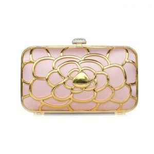 Metal Hollow Banquet Package Evening Gown Boutique Ladies Clutch Bag