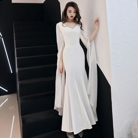 2d9794883a modest-simple-ivory-chiffon-evening-dresses-2019-trumpet-mermaid-v-neck-long -sleeve-metal-sash-floor-length-long-ruffle-backless-formal-dresses -560x560.jpg