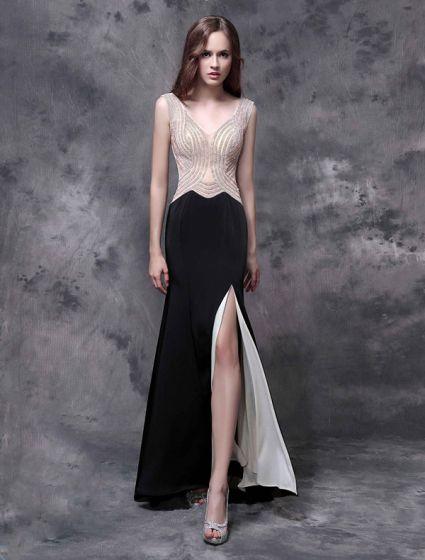 sort lang kjole