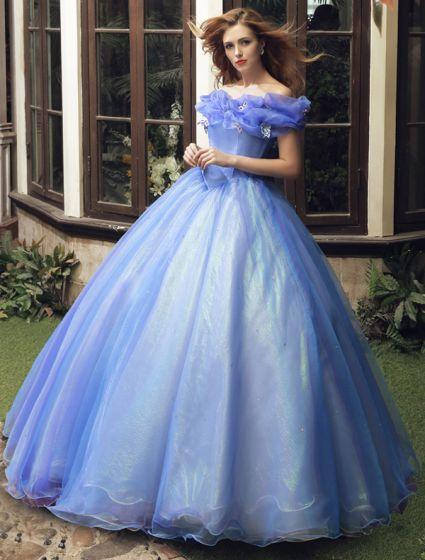 Cinderella Movie 2015 Adult Costume Dress Prom Dress Cheap Version