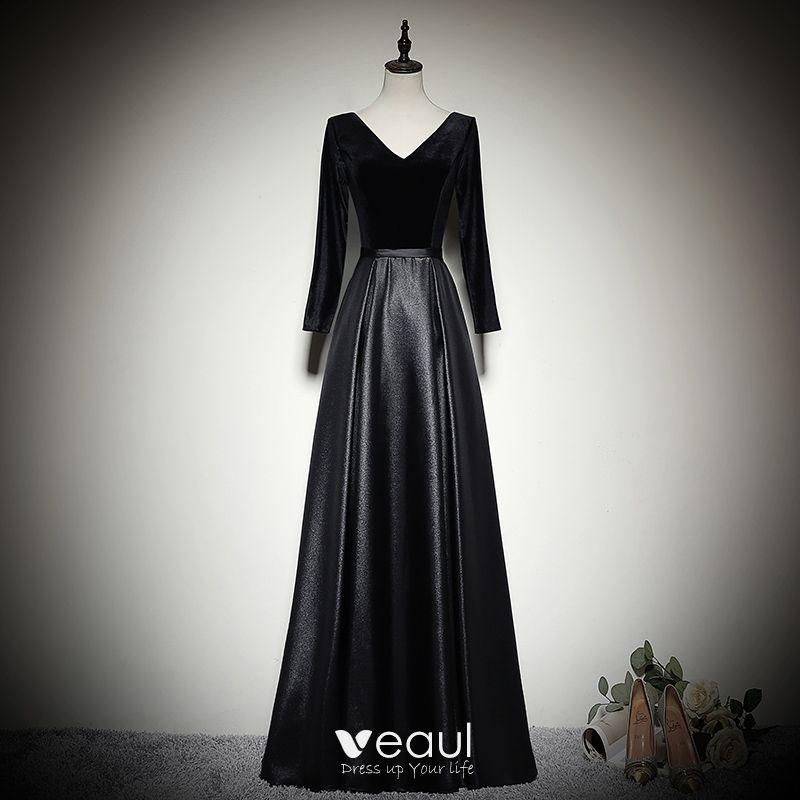 Rückenfrei abendkleid schwarz lang Elegant Lang