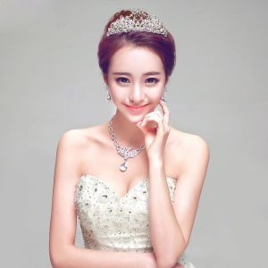 Bridal Jewellery Wedding Tiara / Earrings / Necklace Three-piece