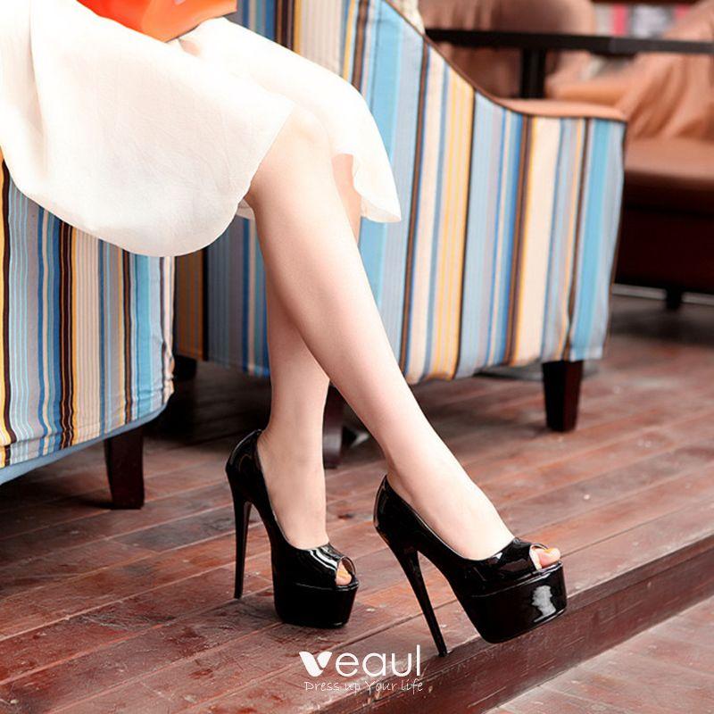 sch ne ball pumps 2017 pu plateau high heel peeptoes pumps. Black Bedroom Furniture Sets. Home Design Ideas