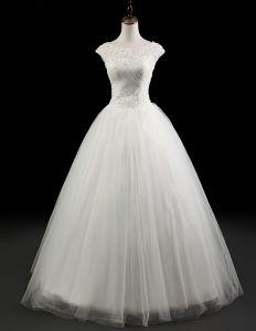 Urocze Koronkowe Białe Suknia Ślubna Suknie Ślubne Imperium