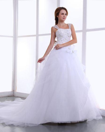 Cherie Organza Broderie De Perles Robe De Bal Robe De Mariage De Longueur
