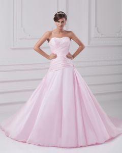 Wzburzyc Kwiat Satyna Długosc Suknia Pietro Kochanie Linia Kobiet Suknie Ślubne Suknia Ślubna Princessa
