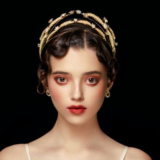 Luxe Goud Haaraccessoires Bruids Haaraccessoires 2020 Metaal Rhinestone Huwelijk Accessoires
