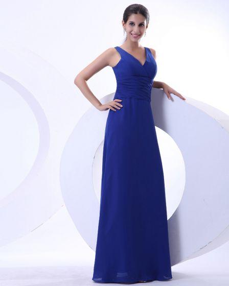 Mousseline De Soie Elegante Volants Col En V Etage Longueur Mere De La Robe De Mariée