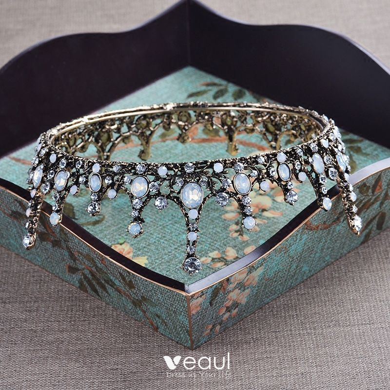 Gold Crystal 2017 Tiara Bridal Jewelry Vintage