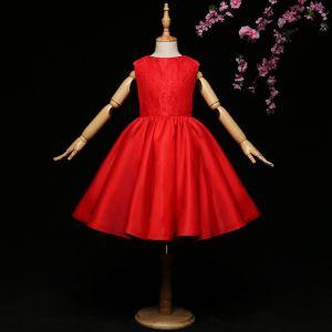 Schöne Mädchenkleider 2017 Ballkleid Spitze Applikationen Perlenstickerei Pailletten Rundhalsausschnitt Ärmellos Kurze Kleider Für Hochzeit
