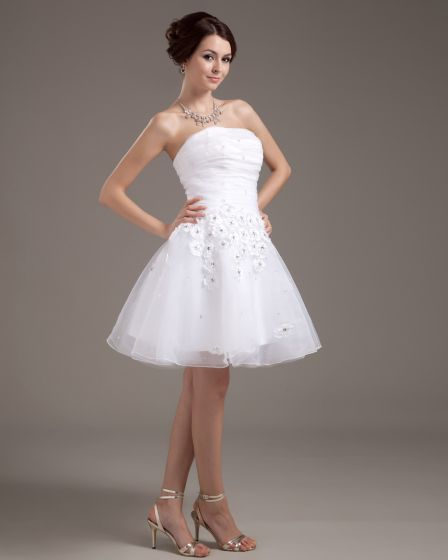 Vestidos de novia cortos con manga