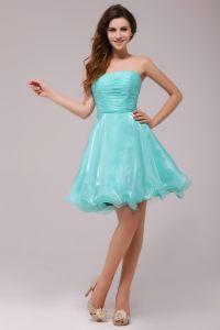 2015 Captivating A-line Strapless Blue Cocktail Dress