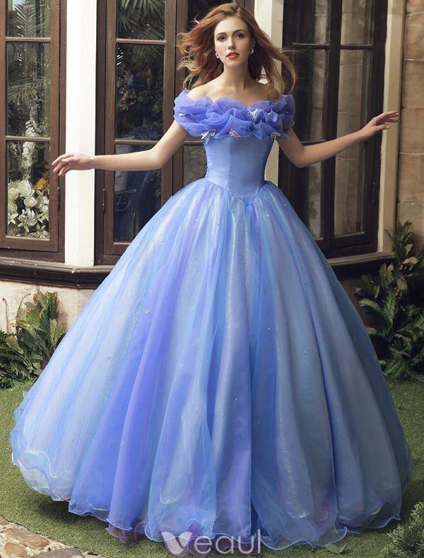 Cinderella Film 2015 Volwassen Kostuum Galajurken Goedkope Versie