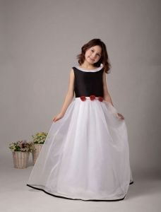 Sleeveless Satin Organza Flower Girl Dress