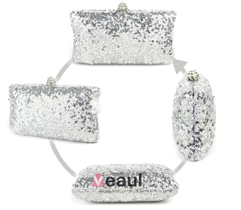 Colorful Ladies Sequined Evening Bag Fashion Clutch Bag In Hand