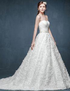 Beha-typ Blommor Midja Stora Gardar Gravid Brud Brudklänning Bröllopsklänningar