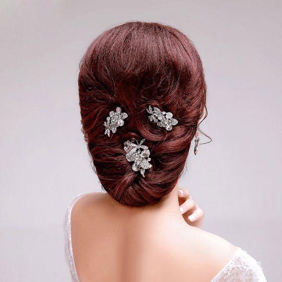 Schitteren Strass De Bruids Hoofdtooi / Head Bloem / Bruiloft Haar Accessoires / Bruiloft Sieraden