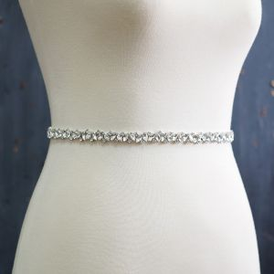 Romantisk Couture Hvide Galla Skærf  2020 Satin Metal Håndlavet Beading Rhinestone Bryllups Bryllup Selskabs Accessories