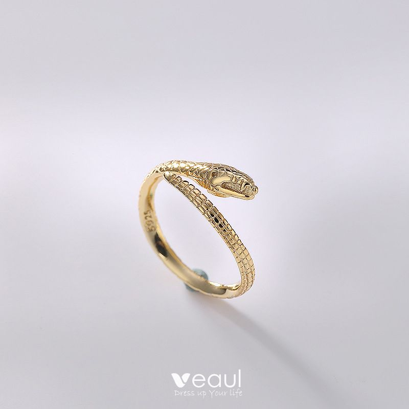 Silver Handmade  Snake Couple Rings Sterling Silver Dating Holiday Amazing / Unique Rings 2019 Accessories