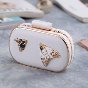 Chic / Beautiful Ivory Metal Clutch Bags 2018