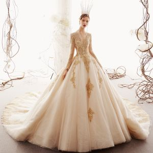 Cathedral Train ball gown