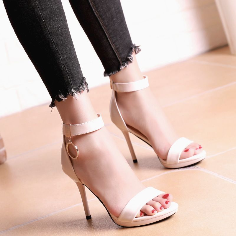 Chic / Beautiful Cocktail Party Womens Shoes 2017 PU Metal Hall
