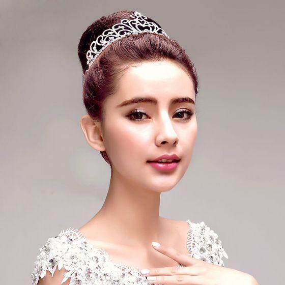 Mode Strass Bröllopssmycken Tiara Haraccessoarer