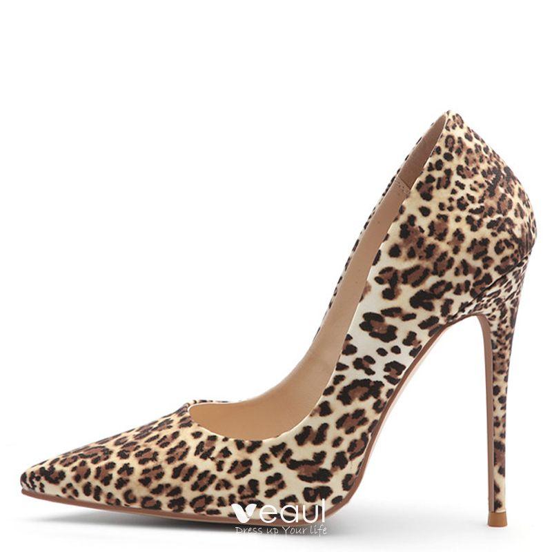 Beautiful Brown Street Wear Leopard