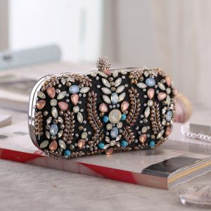 Fashion Black Rhinestone Square Clutch Bags 2020