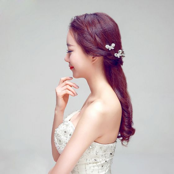 Luxe Prachtige Vlinder Strass De Bruids Hoofdtooi / Head Bloem / Bruiloft Haar Accessoires / Bruiloft Sieraden