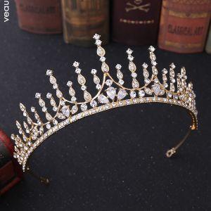 Classic Gold Tiara Bridal Hair Accessories 2020 Alloy Rhinestone Wedding Accessories