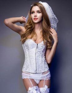 Brautträgerlosen Brautkleid Korsett Bauch Formt Unterwäsche