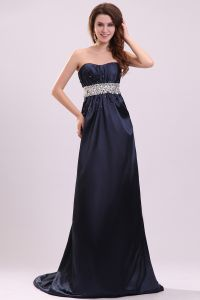 2015 Wonderful Empire Sweep Train Empire Waiste long Evening Dresses