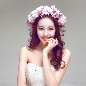 Mode Elegante Jasmin Mariée Coiffure / Fleur Tete / Accessoires De Cheveux De Mariage / Bijoux De Mariage / Guirlande