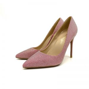 Charming Blushing Pink Cocktail Party Rhinestone Pumps 2020 12 cm Stiletto Heels Pointed Toe Pumps
