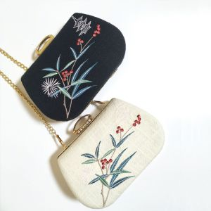 Lovely Ivory Embroidered Flower Homecoming Cocktail Party Clutch Bags 2018