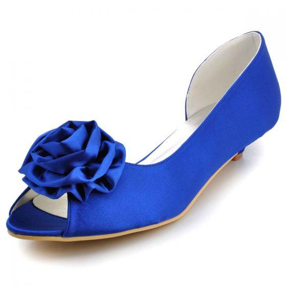 69c04055 Recznie Na Zamowienie Buty Ślubne Szef Partii Buty Niebieski Kwiaty Ryby