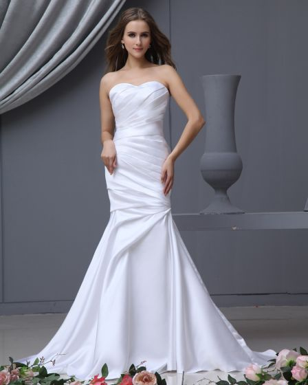 Stylish Charmeuse Sweetheart Sheath Wedding Dress