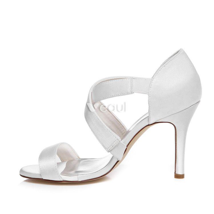 Strappy Wedding Sandals High Heel 9 Cm Stiletto Heels
