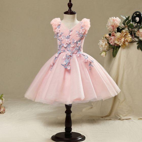 Schöne Saal Kleider Für Hochzeit 2017 Mädchenkleider Pink ...