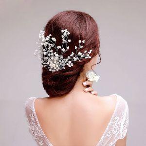 Perle-blomst Brude Hodeplagg / Hode Blomst / Bryllup Har Tilbehør / Bryllup Smykker
